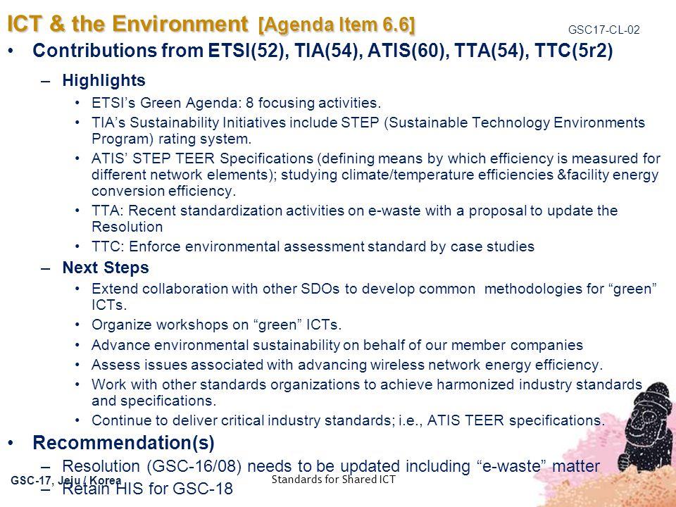 ICT & the Environment [Agenda Item 6.6]